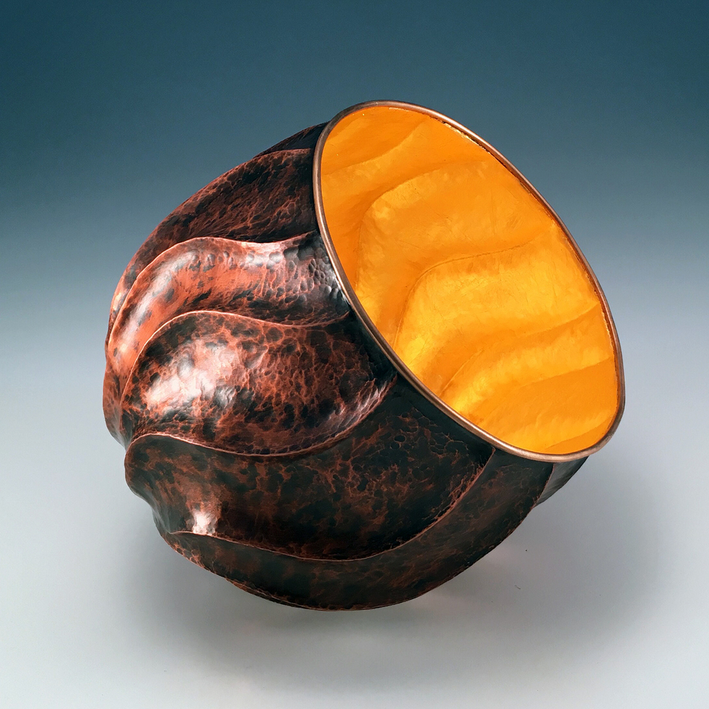 "Raised Copper Vessel, ""Ember Vessel"""