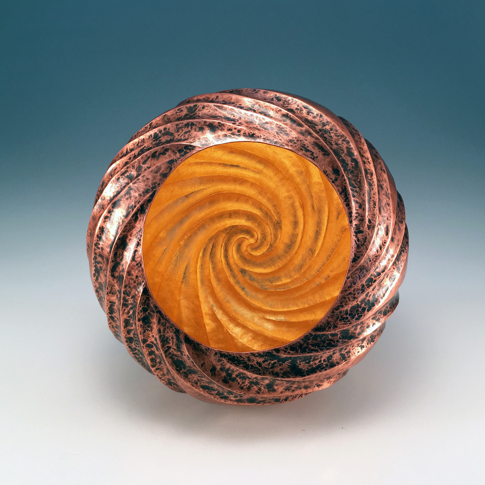 """Raised Copper Vessel, """"Sandy Shoals"""""""