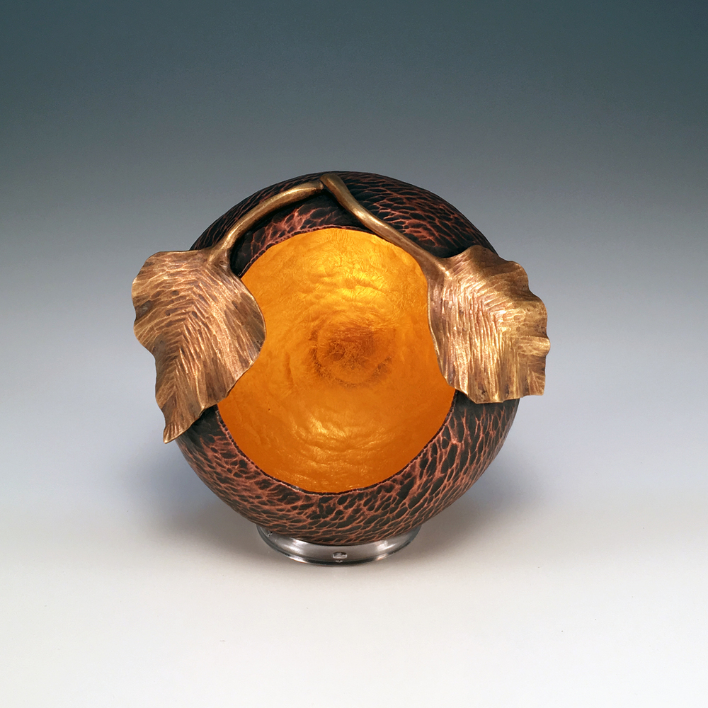 "Raised Copper Vessel, ""Quaking Aspen Orb"""