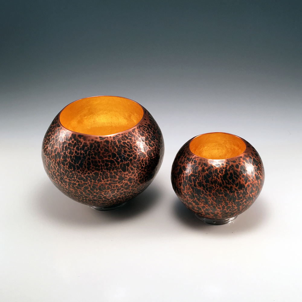 "Raised Copper Vessels, ""Copper Orbs"""