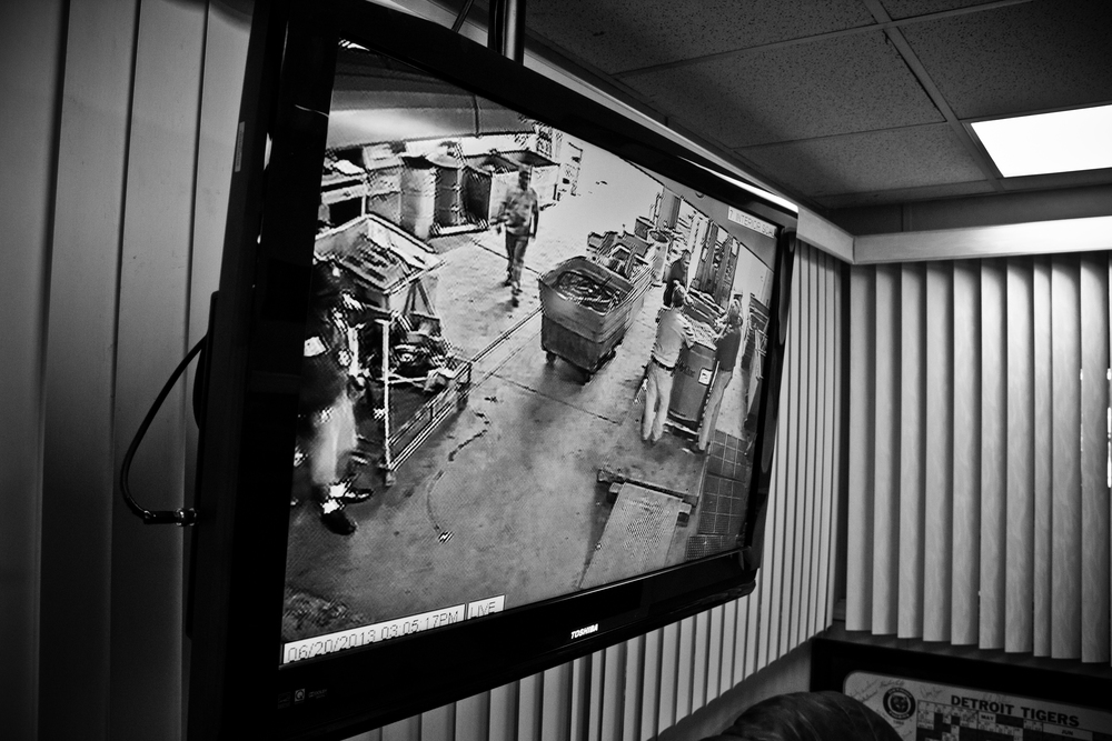 Security cameras blanket the facility, another method to ensure the legality of the business. H&H Metals, Detroit.