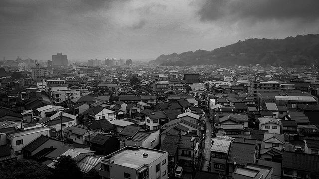 Kanazawa, Post rain. ————————————————————Kanazawa, Ishikawa, Japan ———————————————— www.bradpatocka.com ———————————————— #Japan #Kanazawa #fog #film #onassignment #work  #shogun #nature #cityscape #weather #westjapan #blackandwhite #documentary #exlpore #travel #rainyseason