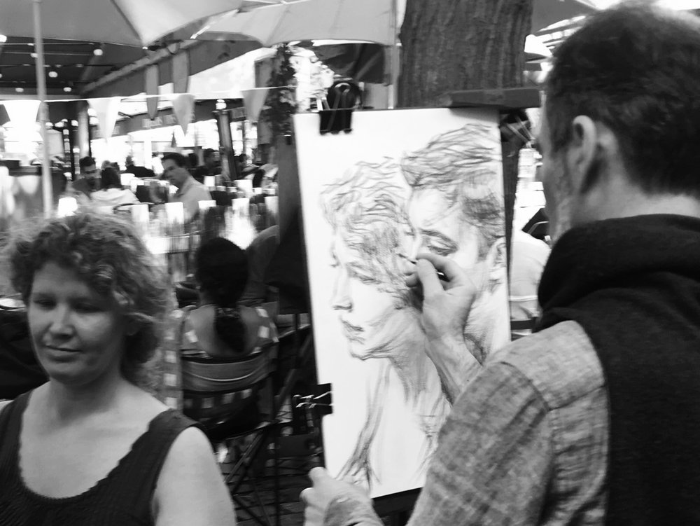you haven't done paris till you've had your portrait done.