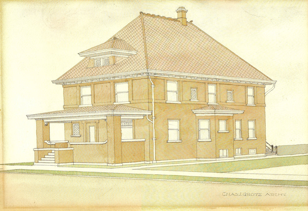 Original Architect Rendering, 1914