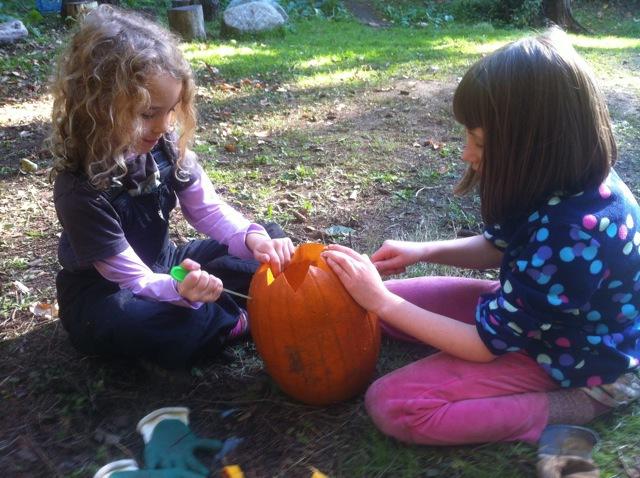 cooperative pumpkin carving