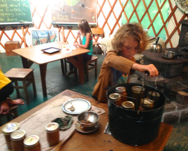 preparing jars for boiling baths