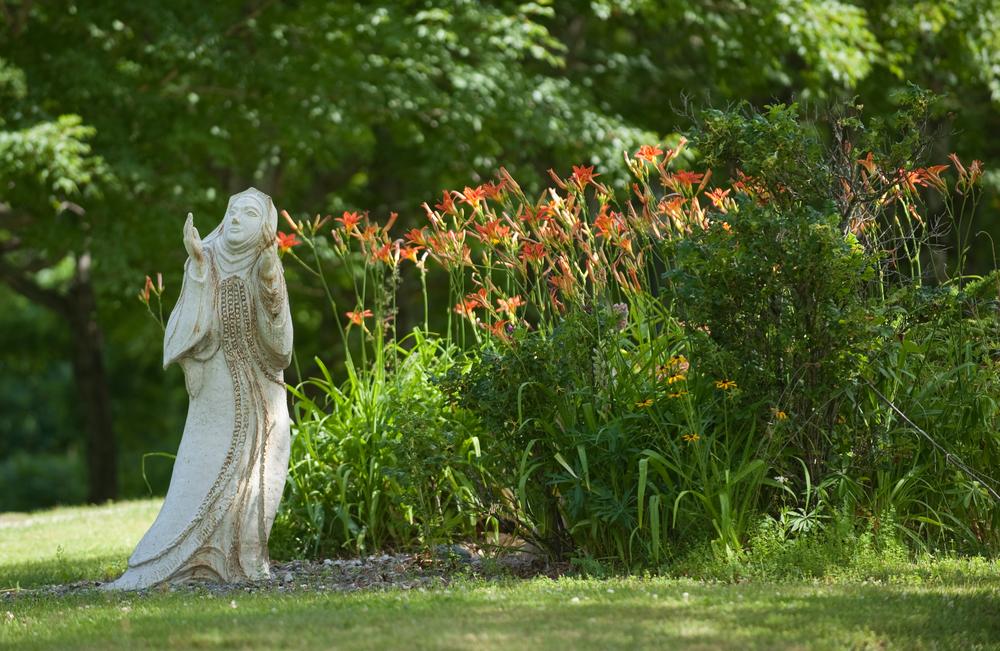 virgin mary and organe flowers.jpg