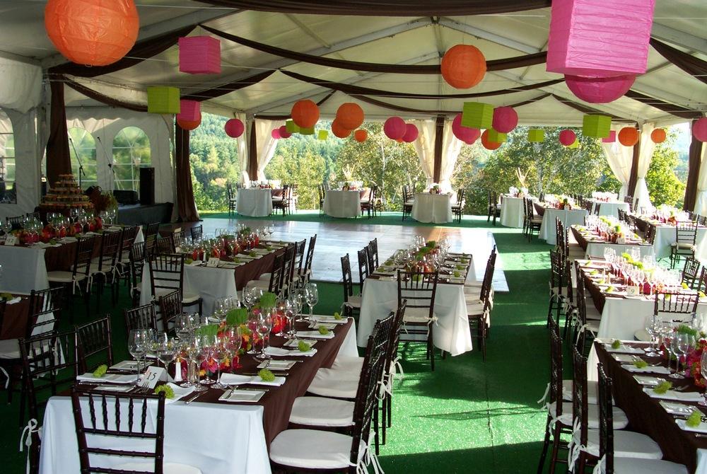Colorful Wedding Reception