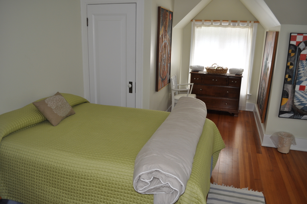 Bedroom 7 is the only bedroom to not have a private bathroom - it shares with room 6, 200 sq ft.