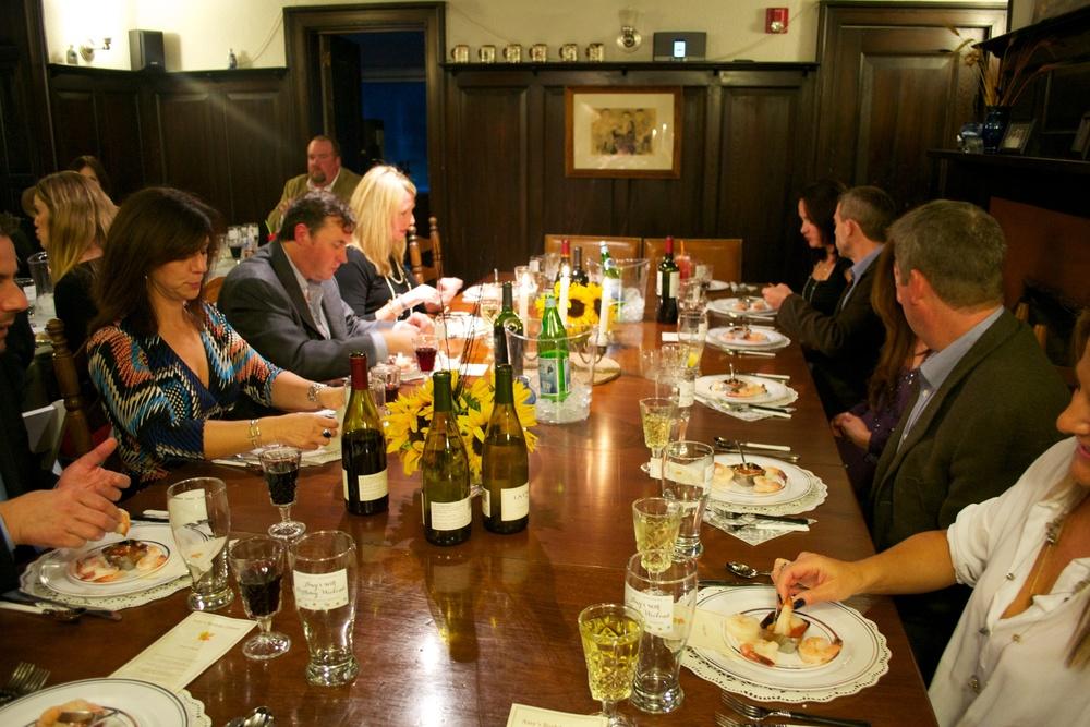 A 40th birthday dinner party celebration