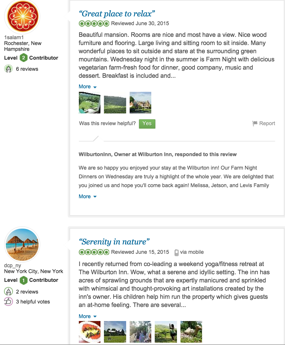 Guest Reviews — Wilburton Inn, Manchester Vermont, Inn, Lodging, Bed ...