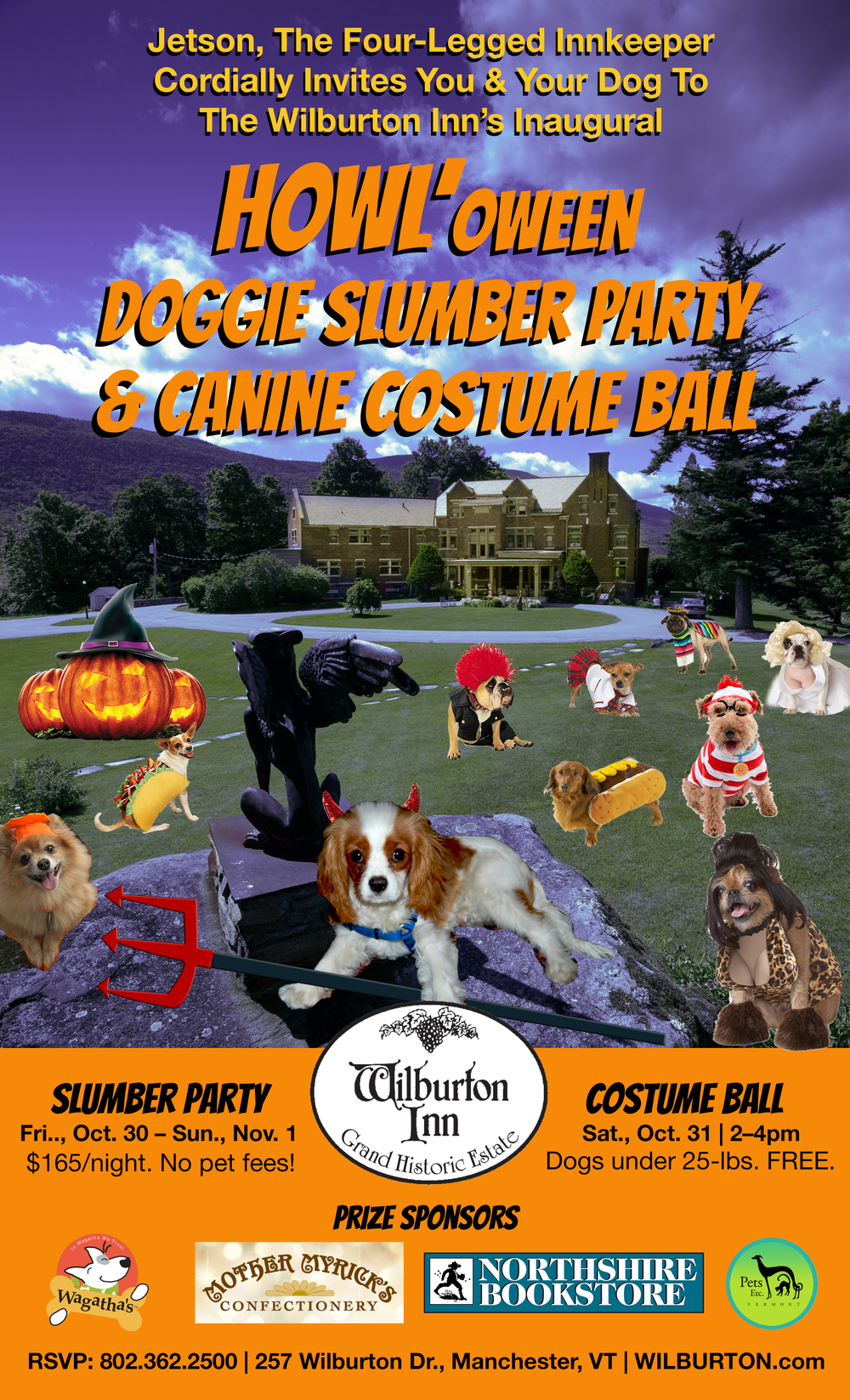 Howl'oween Doggie Slumber Party & Costume Ball!