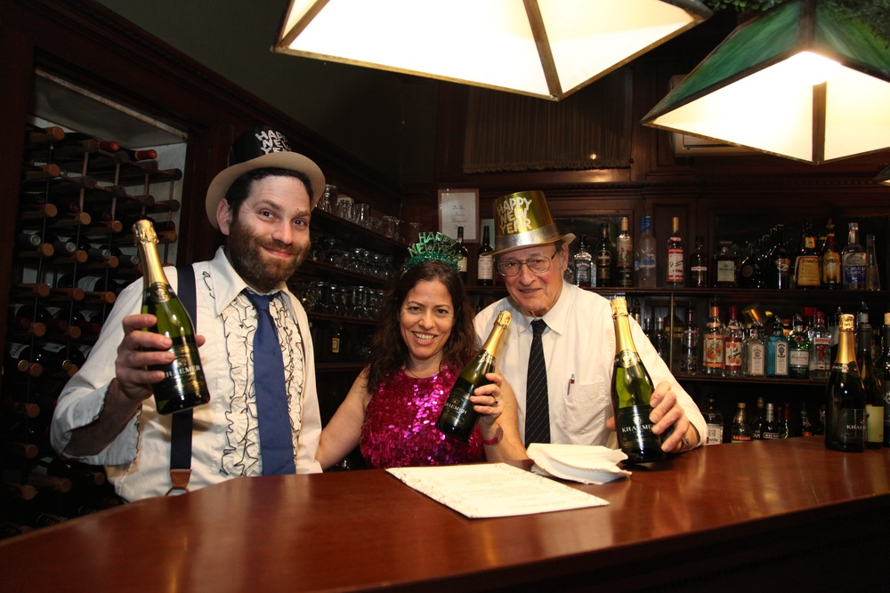 Oliver and Melissa Toasts in the bar.jpg