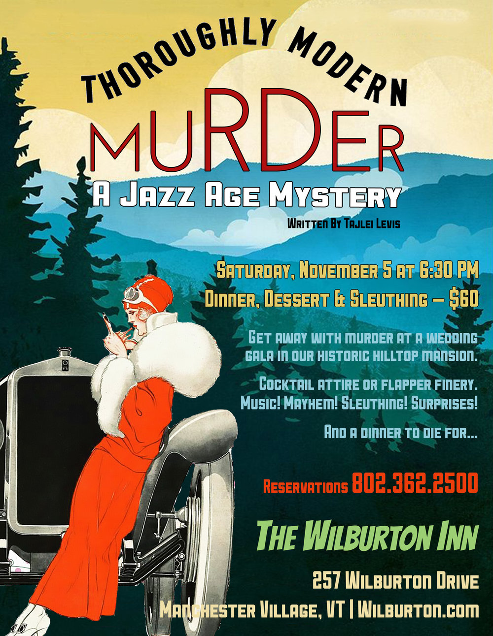 Murder Myster Night at the Wilburton Inn in Manchester Vermont