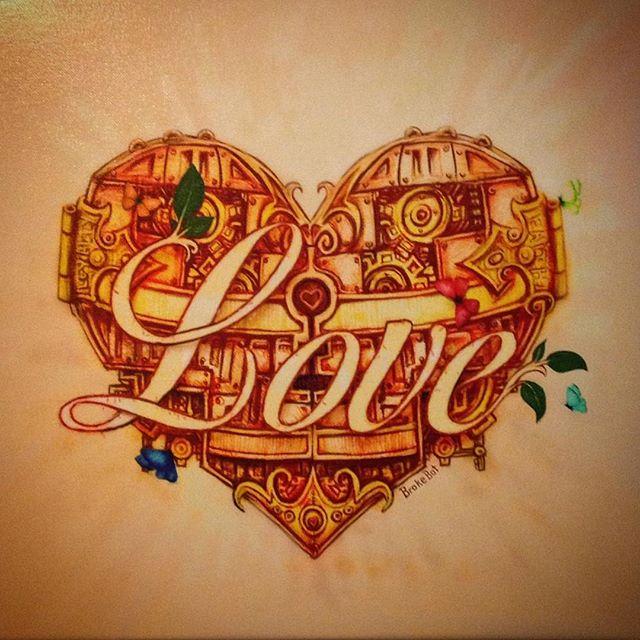 ❤️ #BrokeBot #art #canvasprint #heart #love