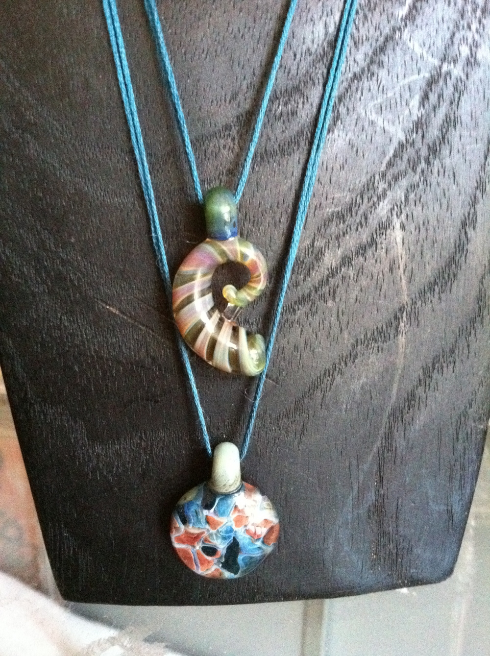 Nautilus and Organic design pendants made in 2011.  Sold.