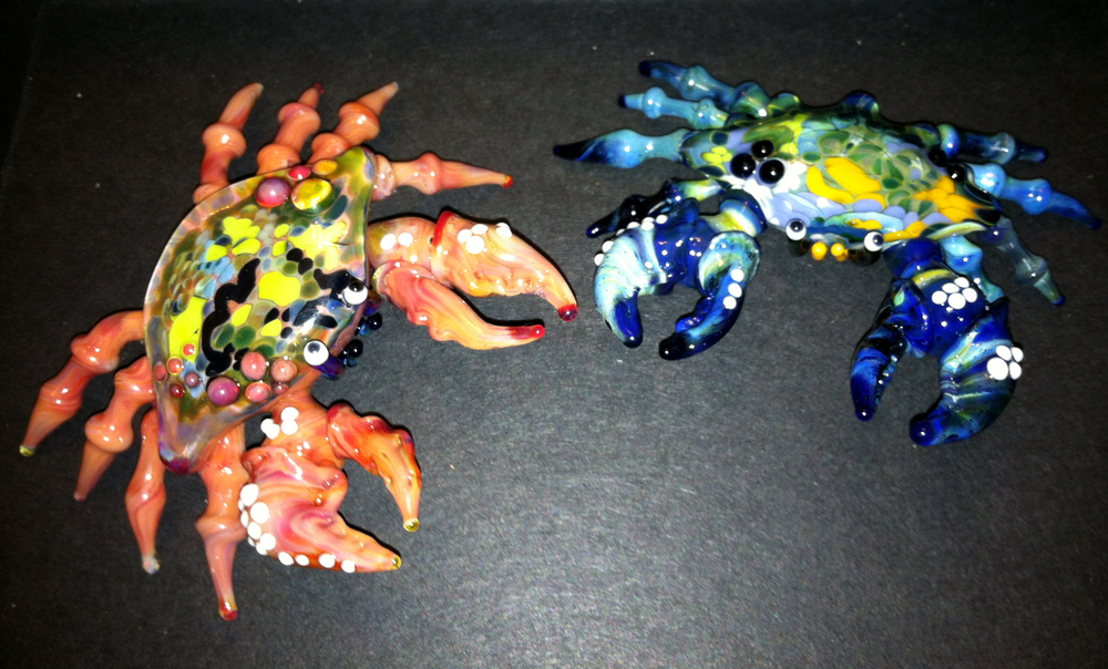 Red and Blue Crab