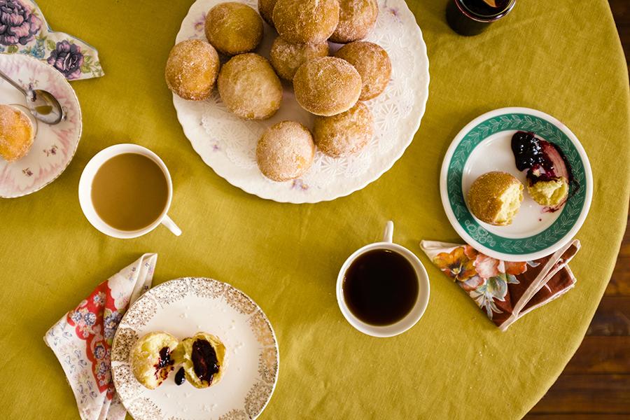 Blueberry Brioche Doughnuts