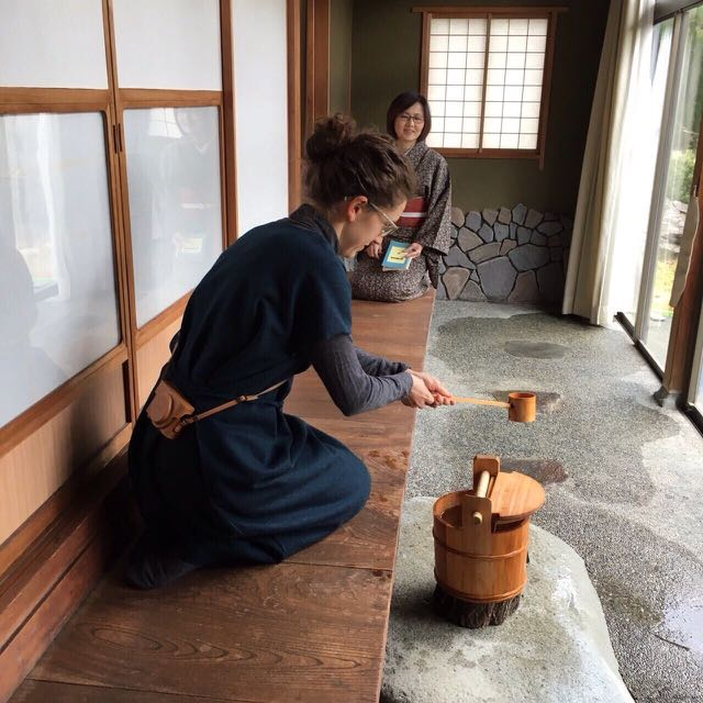 Learning tea ceremony in Japan