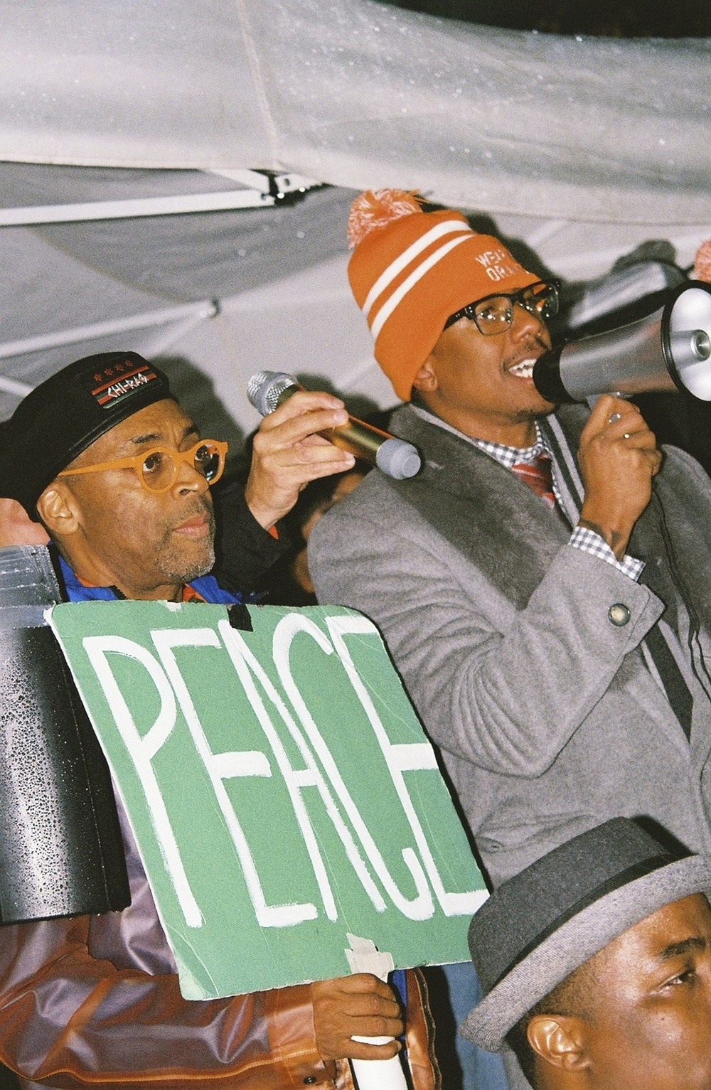 Director Spike Lee pushes an anti-gun sentiment with actor Nick Cannon.