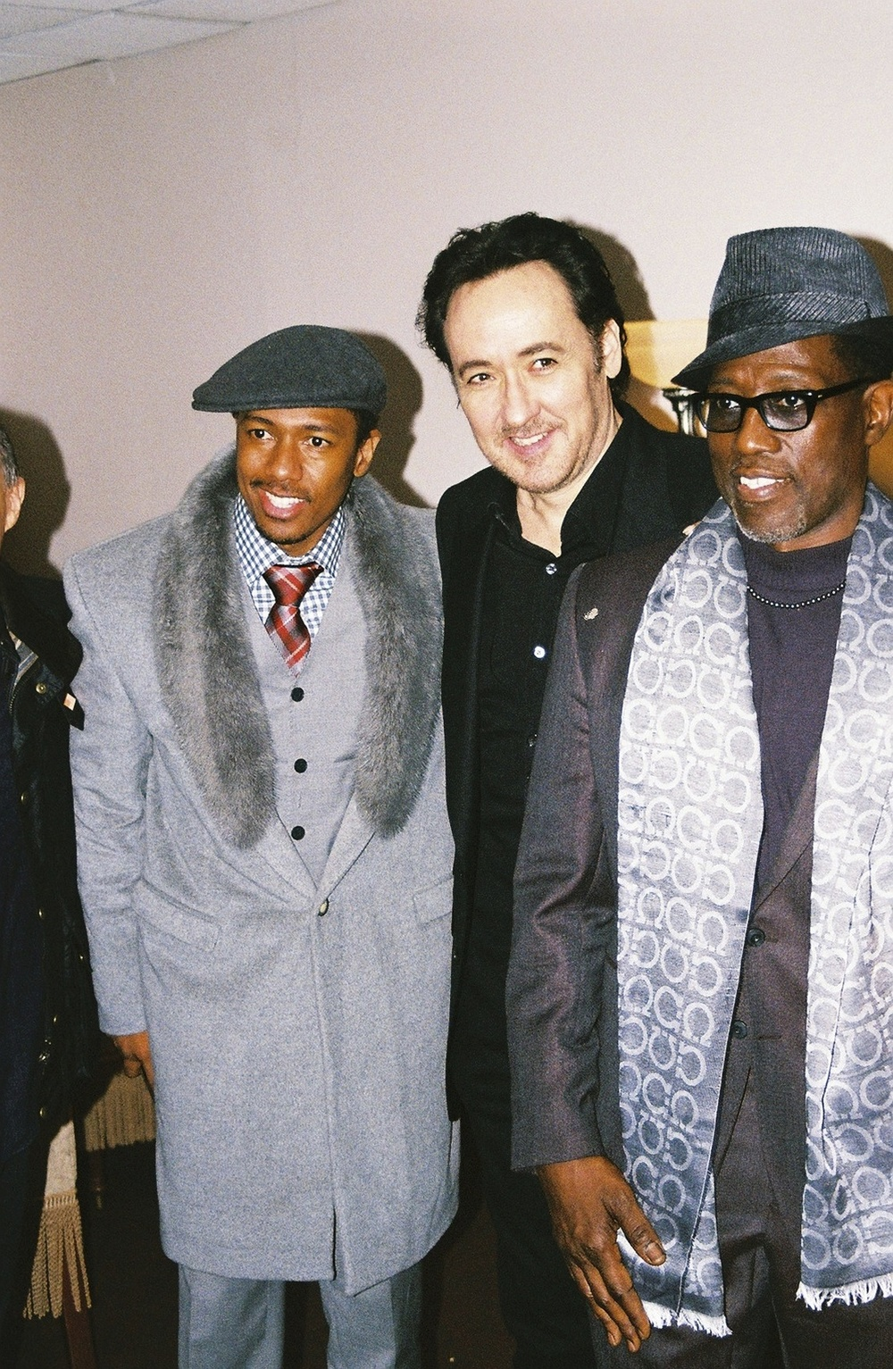 """Chi-Raq"" actors Nick Cannon, John Cusack and Wesley Snipes."