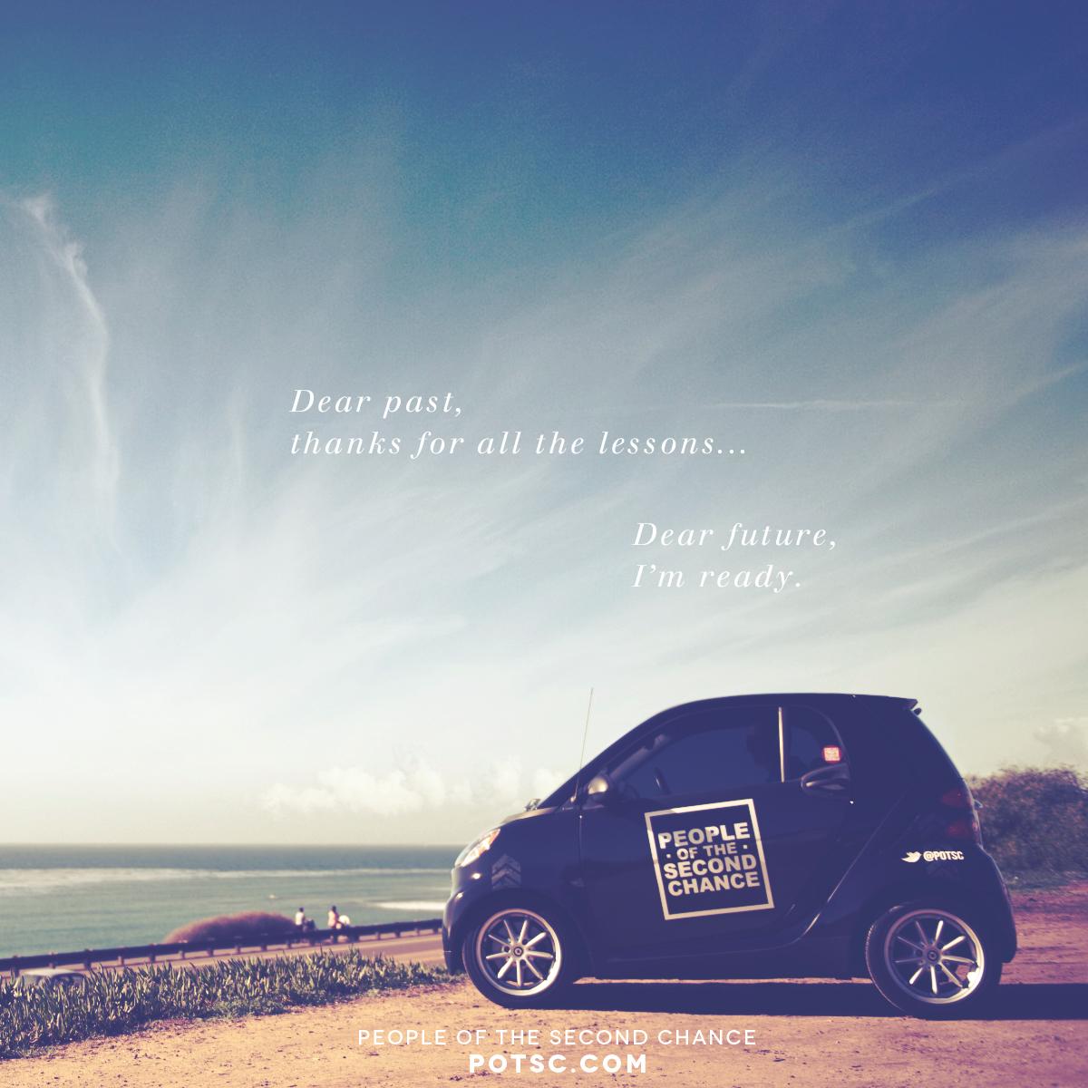 Dear future, I'm ready.     social media promotional image. potsc.com
