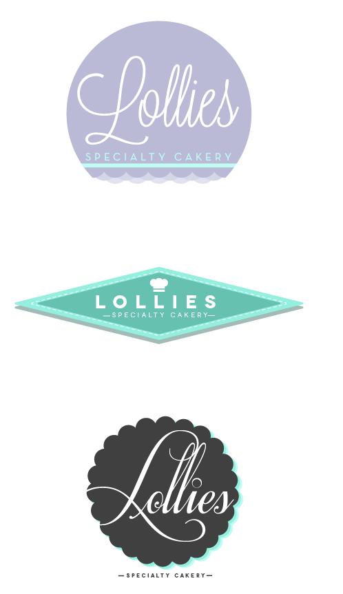identity concept. Lollies Cakery | Graham, TX