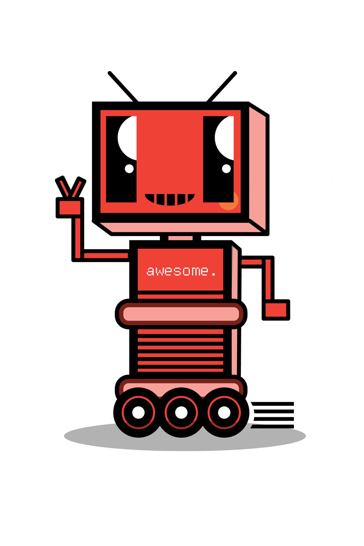 robot character design concept.