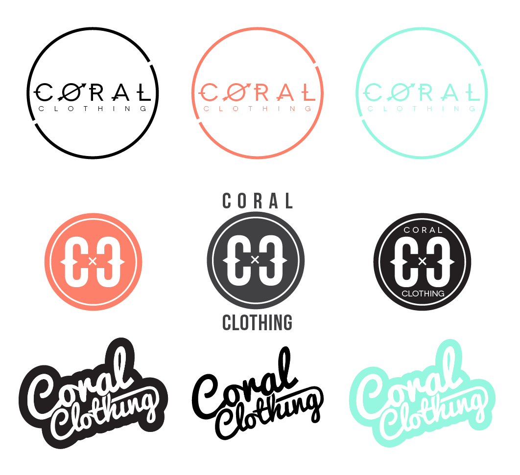 identity concepts for Coral Clothing | Albuquerque, NM