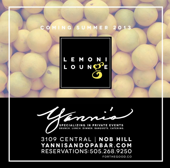 advertisement design | Yannis/ Lemoni Lounge | Albuquerque, NM