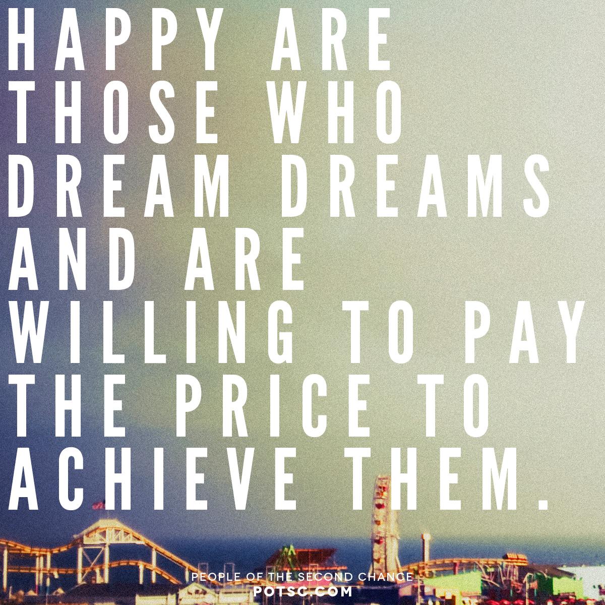 Dream Dreams.     Social Media promotional image | POTSC.com