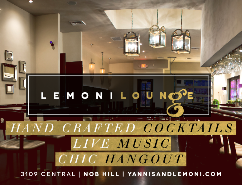 Advertisement   Lemoni Lounge   ABQ