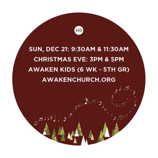 Promotional design | Christmas at Awaken Church | Clarksville, TN