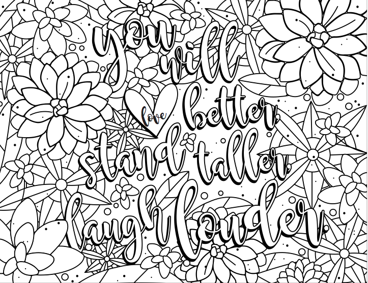 Coloring page | For The Love - author, Jen Hatmaker | Thomas Nelson Publishing | TN