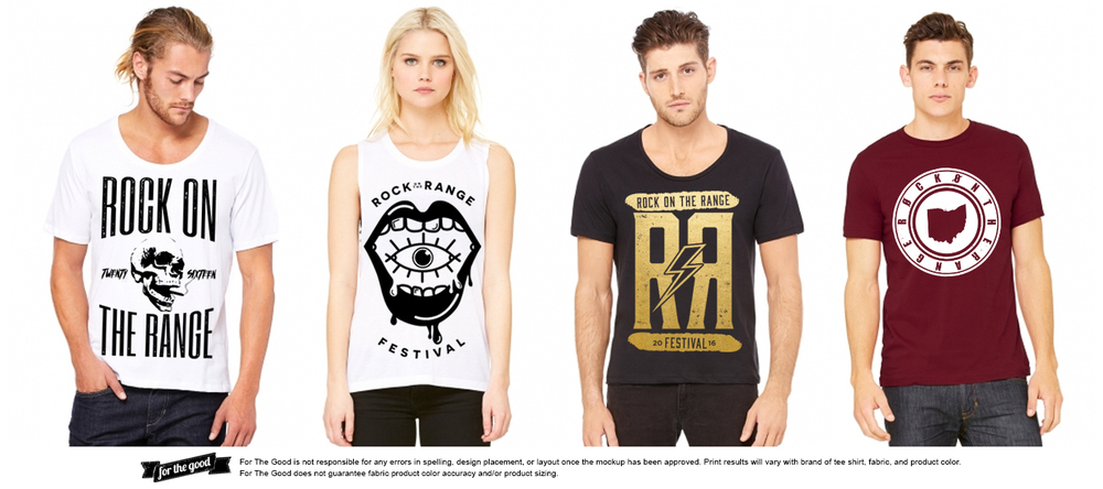 Apparel | On Demand Printing | Rock on the Range Festival | OH