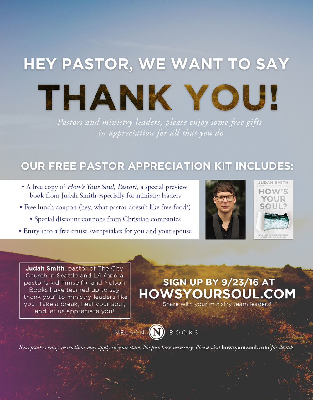 Advertisement   Nelson Books   How's Your Soul by Judah Smith