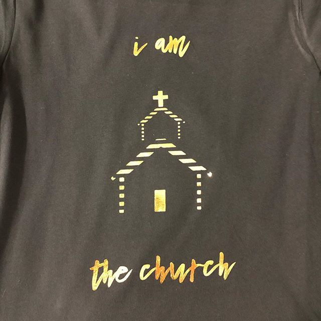 #screenprinting #foil #printlife #blessed #church #albuquerque #nmtrue #pressandheart #tshirt