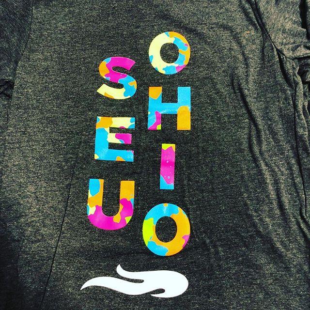 #screenprinting #tshirts #nmtrue #abq #albuquerque #seuohio #seu #pressandheart #college #6color