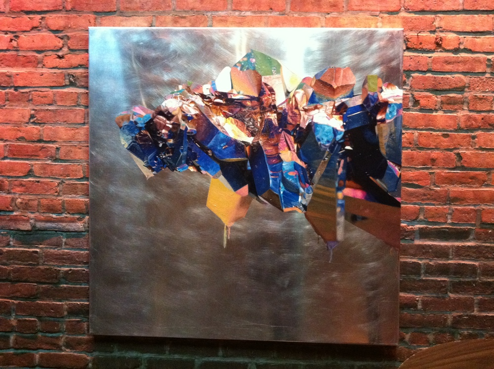 One of my paintings hanging at the TedxLES event