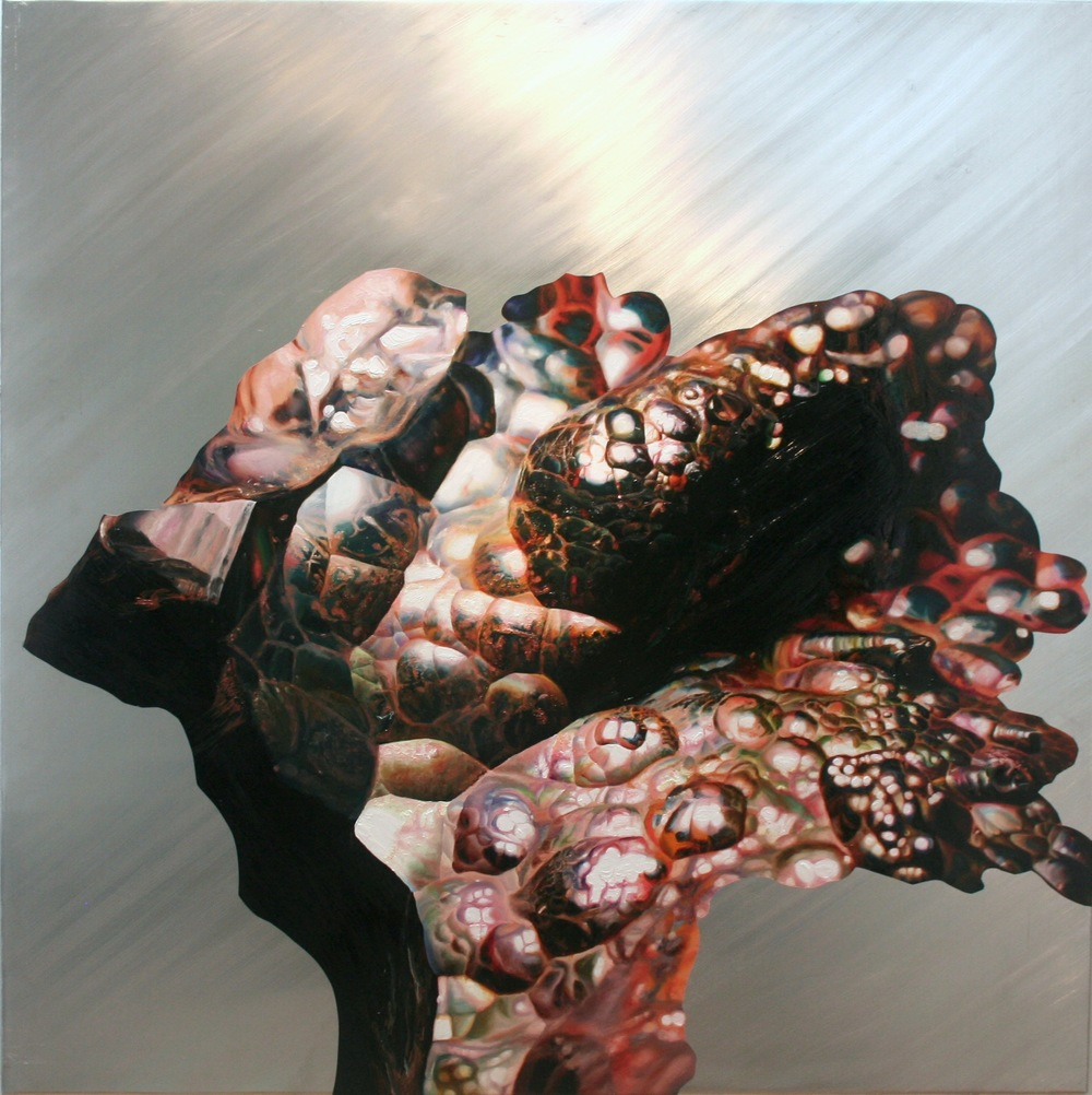 "Expansion  , oil on aluminum, 46x46"", 2009"