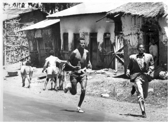 Bikila training, from the public album of Onni Niskanen