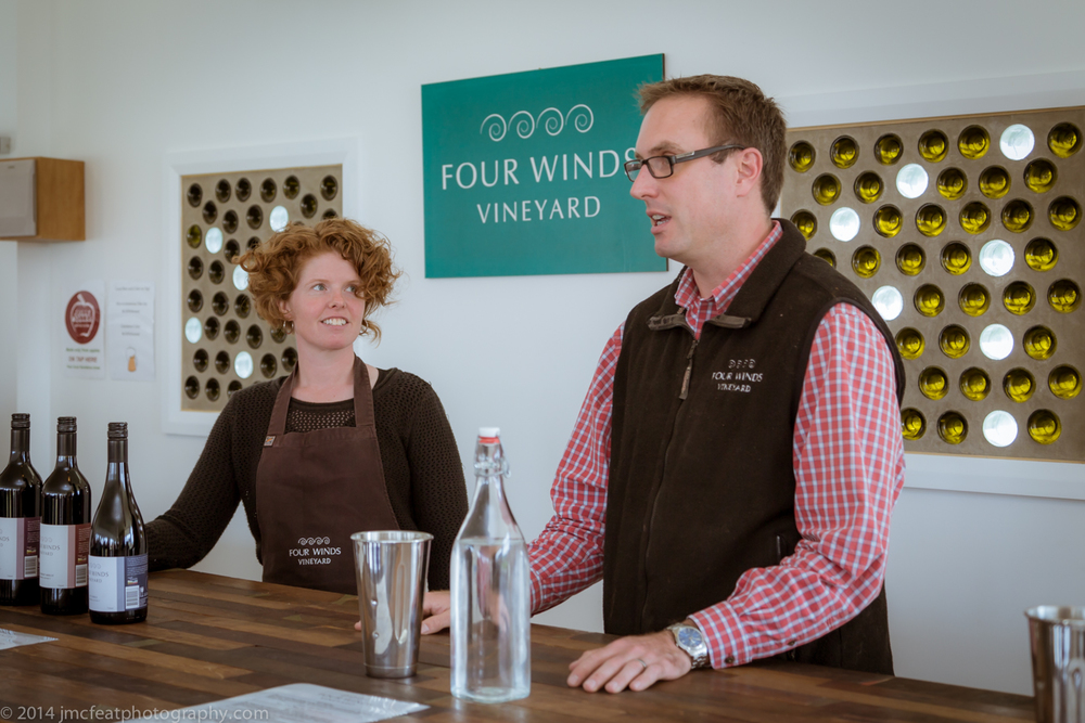 bill and sarah introducing us to their range | four winds vineyard, murrumbateman