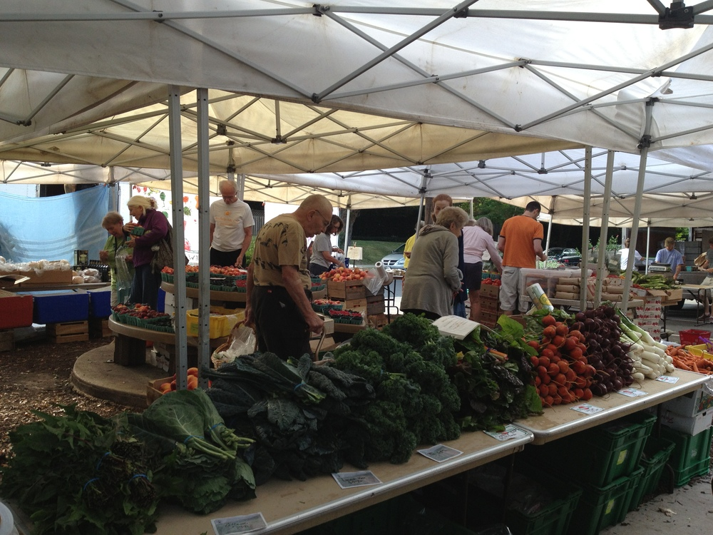 I also helped out at New Morning Farm. Here I am at their bustling DC Saturday market.