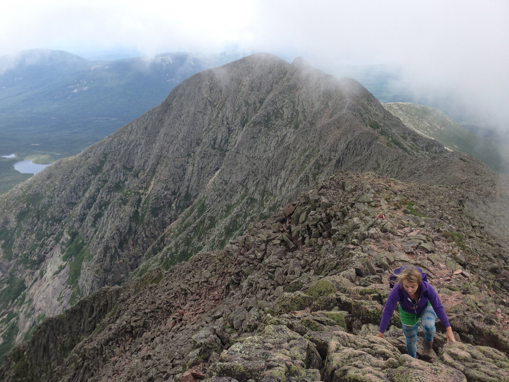Katahdin's Knife Edge sure does continue to feel like a big ol' metaphor.