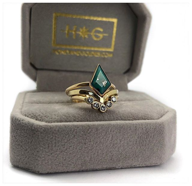 Too stunning! Faceted turquoise in gold filled with 14k bands.