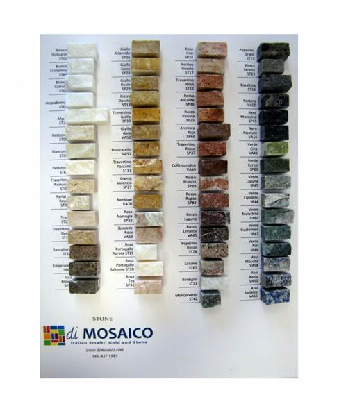 diMosaico Stone Sample Board