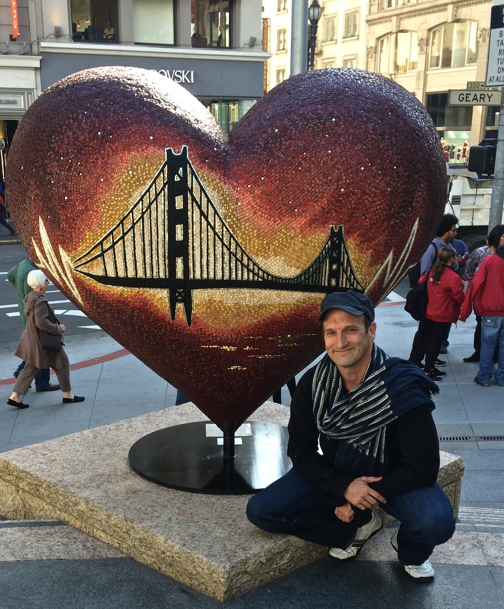 """Still Beating"" Hearts for San Francisco Benefit for San Francisco General Hospital Trauma Center- !!!Installed Linked in building-222 2nd St. San Francisco!!!"