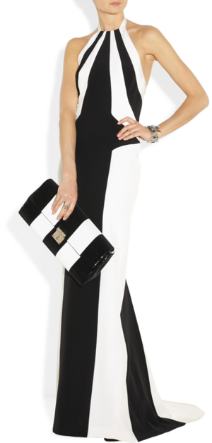 Gown by L'Wren Scott, ring, bracelet and clutch by Marc Jacobs.