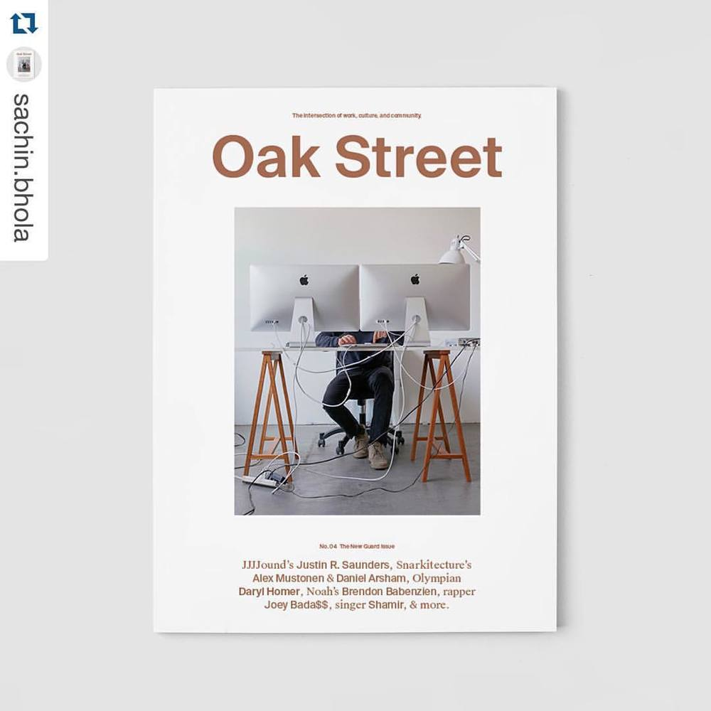 JJJJound's Justin R. Saunders, photographed by Richmond Lam, for the cover of Oak Street Magazine's, Issue No. 04, The New Guard Issue.