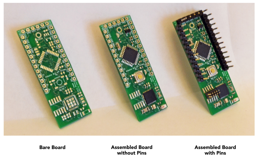 Coin Arduino-BLE Board (middle)